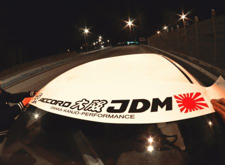 Accord Kanjo Osaka JDM Honda Windshield banner Logo sun strip visor window Sticker decal kanjozoku kanjostyle