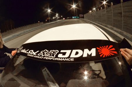 DelSol CRX Kanjo Osaka JDM Honda Windshield banner Logo sun strip visor window Sticker decal kanjozoku kanjostyle