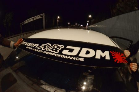 Integra DA Kanjo Honda Windshield banner Logo sun strip visor window Sticker decal kanjozoku kanjostyle