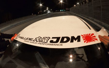 Prelude BB Kanjo Osaka JDM Honda Windshield banner Logo sun strip visor window Sticker decal kanjozoku kanjostyle
