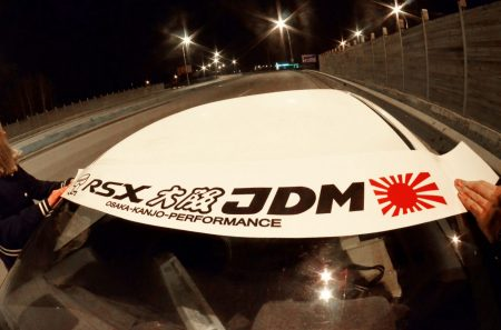 RSX Acura Kanjo Osaka JDM Honda Windshield banner Logo sun strip visor window Sticker decal kanjozoku kanjostyle