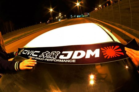Civic AH AG Kanjo Osaka JDM Honda Windshield banner Logo sun strip visor window Sticker decal kanjozoku kanjostyle