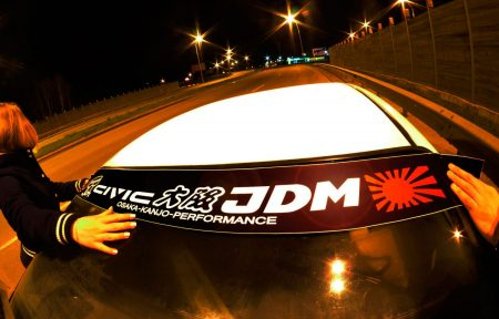 Civic EF EE ED Kanjo Osaka JDM Honda Windshield banner Logo sun strip visor window Sticker decal kanjozoku kanjostyle