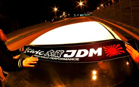 Civic EG EJ EH Kanjo Osaka JDM Honda Windshield banner Logo sun strip visor window Sticker decal kanjozoku kanjostyle