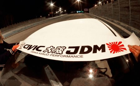 Civic EK EJ EM Kanjo Osaka JDM Honda Windshield banner Logo sun strip visor window Sticker decal kanjozoku kanjostyle