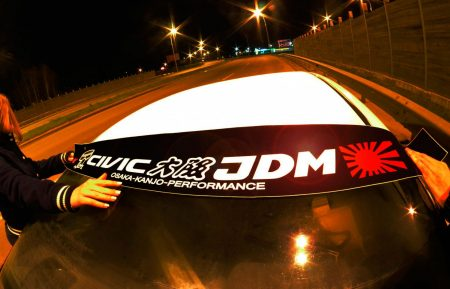 Civic EP EM ES Kanjo Osaka JDM Honda Windshield banner Logo sun strip visor window Sticker decal kanjozoku kanjostyle