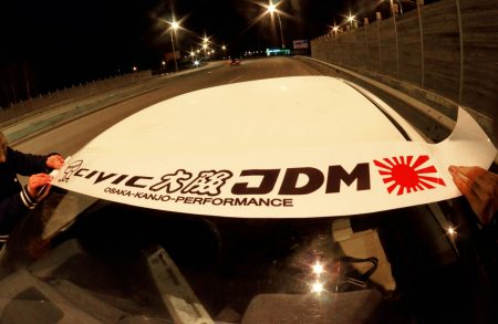 Civic FB FK Kanjo Osaka JDM Honda Windshield banner Logo sun strip visor window Sticker decal kanjozoku kanjostyle