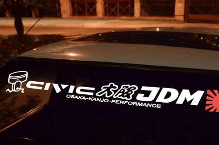 Civic EF EH ED Kanjo Osaka JDM Honda Windshield banner Logo sun strip visor window Sticker decal kanjozoku kanjostyle