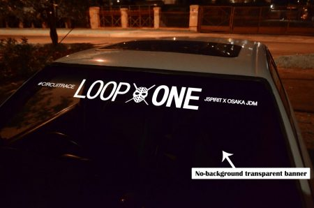 Kanjo Loop One Mask Osaka JDM Honda Windshield banner Logo sun strip visor window Sticker decal kanjozoku kanjostyle