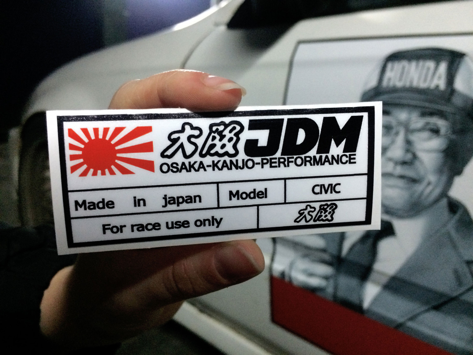Civic For Race Use Only Sticker Made In Japan Kanjostyle Honda Decal